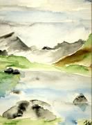 """Ingrid Kleindienst-John """"Landschaft mit See"""""""